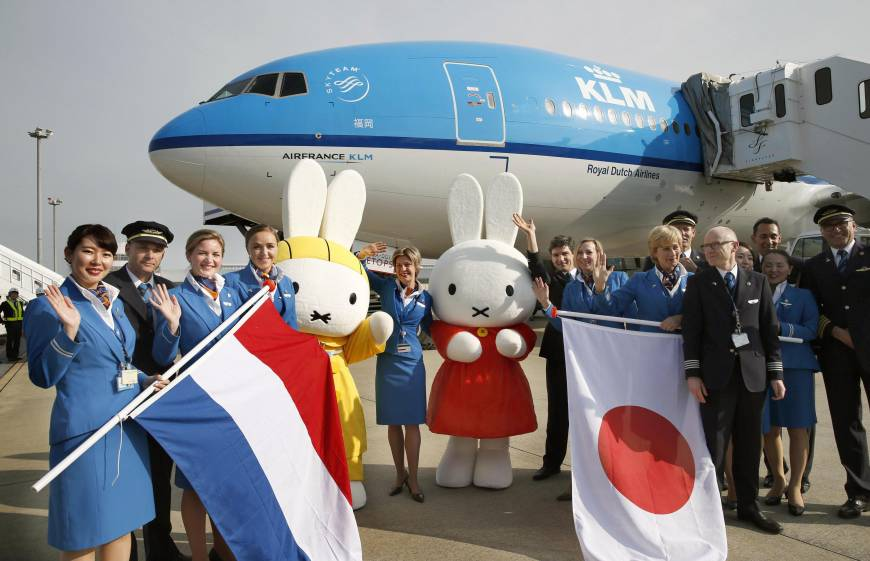KLM now flying from Fukuoka to Amsterdam