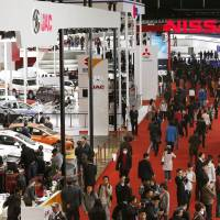 Possible pick-me-up: The Shanghai international motor show opens its doors to the media for a preview Saturday. | KYODO