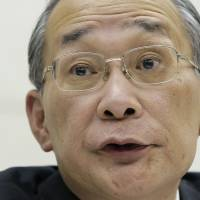 In demand: Kazuhiko Shimokobe, chairman of Tokyo Electric Power Co., has been asked by Prime Minister Shinzo Abe to remain in the post beyond the end of his planned exit in June to continue restructuring the utility.   BLOOMBERG
