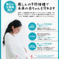 Measles warning: A poster showing a pregnant woman urges people to get vaccinated against rubella. | KYODO/COURTESY OF THE NATIONAL INSTITUTE OF INFECTIOUS DISEASES