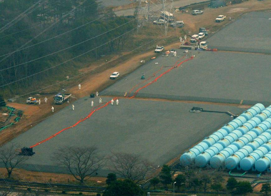 Fukushima tank springs major leak