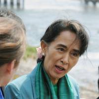 Suu Kyi travels to Kyoto on second day of Japan visit