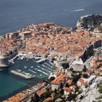 Jewel of the Adriatic: Dubrovnik's old town is seen from Srdj, the mountain above the city, on Friday. | AP