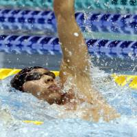 Hagino outduels Irie for 100-meter backstroke national title