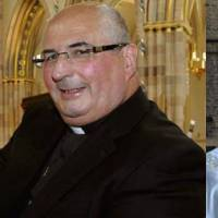 Crisis control: Archbishop Philip Tartaglia of Glasgow (left) and Auxiliary Bishop Stephen Robson chaired one of several priest meetings that were held in the diocese of Cardinal Keith O'Brien following his resignation.   AMBROSIA212/MARK.HAMID