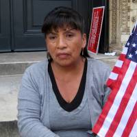 Overly onerous?: Under a plan presented in the Senate on  Wednesday, Ecuadorian illegal immigrant Marta Gualotuna would have to wait 10 years for permission to bring her three children to the United States.   AP