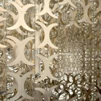 'H_edge': One of Cecil Balmond's physical manifestations of his perception of the patterns and rhythms found in nature, consists of 7,000 aluminum pieces supported by slender stainless-steel chains. | JULIAN WORRALL PHOTO