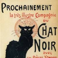 'Poster for Compagnie Du Chat Noir' (1896) by Theophile-Alexandle Steinlen. | HOKKAIDO OBIHIRO MUSEUM OF ART