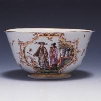 Slop basin with enamel and gold decoration (1723-24)