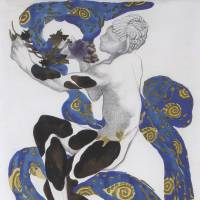 Leading dancer: A costume design for Vaslav Nijinsky in 'L' Apres-midi d'un Faune' ('Afternoon of a Faun') by Leon Bakst (1912). | CENTRE POMPIDOU VIA BLOOMBERG