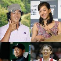 Local heroes: Clockwise from top left, teen golf sensation Ryo Ishikawa, figure skater Mao Asada, Olympic wrestler Saori Yoshida and Major League baseball star Ichiro Suzuki, all of whom star in highly lucrative advertising campaigns. | KYODO PHOTO