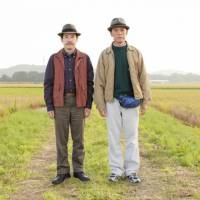 Fine and dandy: Sanada (Tomorowo Taguchi, left) is always there to lend his pal Junichi (Ken Mitsuishi) an ear as the 50-year-old struggles to live up to his goal of 'being cool' in 'Azemichi no Dandy (A Man With Style).' | (C) 2011 'AZEMICHI NO DANDY' SEISAKU IINKAI