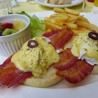 N.Y. style: Brunch at West Park Cafe includes a hearty eggs Benedict. | REBECCA MILNER