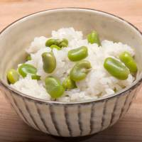 Growing up: Soramame (fava beans) gain their Japanese name from their tendency to point skyward as they grow. They can be served as kakiage (a variation on tempura, above) or simply with rice. | MAKIKO ITOH
