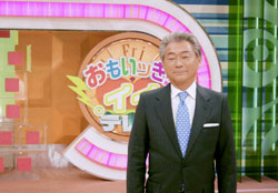 Headliner: Mino Monta in his element on the long-running NTV afternoon show 'Omoikkiri Ii!! Terebi' ('Full-On Good TV') that he will finally quit in March. | KYODO PHOTO