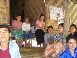 Outsiders: Having fled their country's military junta, many Burmese like these in a Thai refugee camp can only wait in hope that a third country will accept them. | SABURO TAKIZAWA