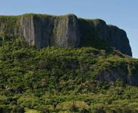 Deadly outcrop: 'Suicide cliffs' from which many Japanese flung themselves in line with an Imperial decree when defeat in the Battle of Saipan loomed.