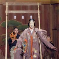 Teele in her shite (leading) role in the play 'Nonomiya,' performed at Kyoto's Kongo Noh Theater in May 2007. | COURTESY OF REBECCA OGAMO TEELE
