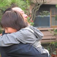 Canadian Bruce Gherbetti is reunited with his eldest daughter in Fukushima Prefecture in September after a difficult two years apart.  | SIMON SCOTT