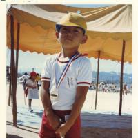 Dai Tamesue proudly wearing a medal he won at his Hiroshima kindergarten's Sports Day. | PHOTO COURTESY OF DAI TAMESUE