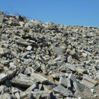 Though ideal for crushing and recycling, concrete rubble like this is in a legal limbo. | MAKOTO HISADA