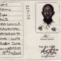 Paid in full: A Forum for Democratic Change membership card shows a younger Moses Ssentamu before he fled Uganda for Japan in 2006, having been detained several times for antigovernment activities. | COURTESY OF MOSES SSENTAMU