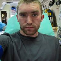 Day 7, Japan by ambulance: Andrew Marston takes a self-portrait after a crash in Saga Prefecture. | ANDREW MARSTON