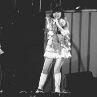 Sweet sounds of the '70s: The Candies (from left: Miki Fujimura, Ran Ito and Yoshiko Tanaka) perform during their farewell concert at Korakuen Stadium in Tokyo on April 4, 1978. | KYODO PHOTO
