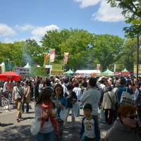 Come one, come all: It's festival time in Yoyogi Park's event area. | JASON JENKINS