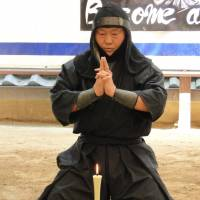 A stage shows of ninjutsu fighting skills at Iga-Ryu Ninja Museum. | MANDY BARTOK
