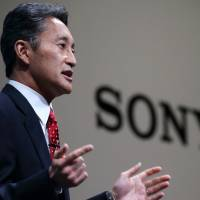Changing course: Kazuo Hirai, president and chief executive officer of Sony Corp., holds a news conference in Tokyo on Wednesday. | BLOOMBERG