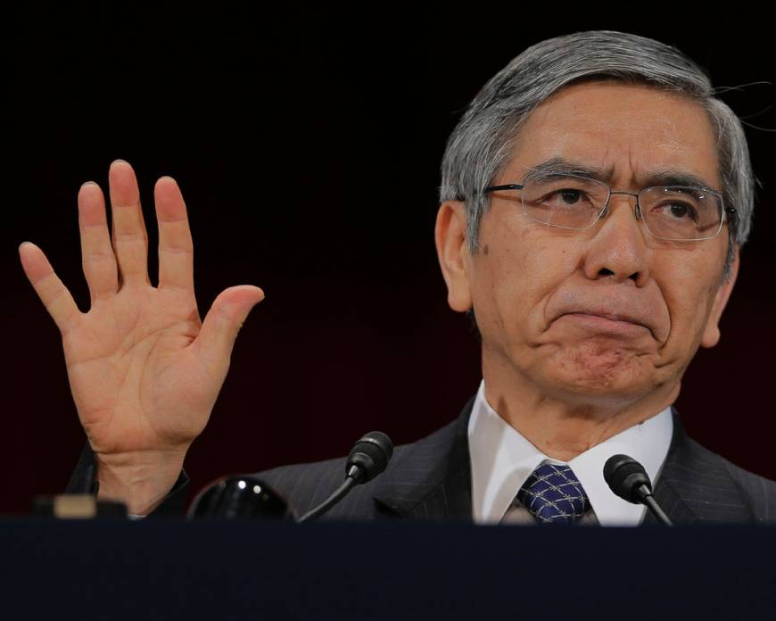 Kuroda vows to avoid rate volatility, confident deflation can be beaten