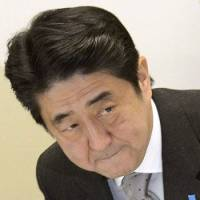 To the victor: Liberal Democratic Party President Shinzo Abe, who was elected prime minister Wednesday, attends a party meeting last week in Tokyo. | KYODO