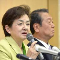 Ozawa, Diet cohorts keep party, subsidy, leave Shiga Gov. Kada with Nippon Mirai name only