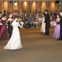 Performance: Classical Viennese dancing in full dress captivates the audience at Europa House in Tokyo during the open day event last year.   EU DELEGATION TO JAPAN