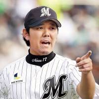 Team leader: Chiba Lotte Marines pitcher Yoshihisa Naruse is 5-1 with a 2.19 ERA this season. | KYODO