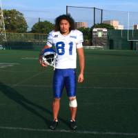 American dream: Takashi Kurihara is hoping to be invited to the Baltimore Ravens' preseason training camp this summer after making an impression at a minicamp in Owings Mills, Maryland, earlier this month.   KAZ NAGATSUKA
