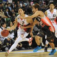 Aiming for a title: Toyama Grouses standout Masashi Joho (31) and his teammates take on the visiting Chiba Jets this weekend in the first round of the bj-league playoffs. | YOSHIAKI MIURA