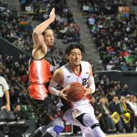 Aiming for a title: Niigata Albirex BB All-Star guard Kimitake Sato and his teammates hope to capture the franchise's first bj-league championship on Sunday. | YOSHIAKI MIURA