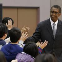 Center of attention: Fans enjoyed interacting with Osaka Evessa head coach Bill Cartwright, a longtime NBA center and former Chicago Bulls bench boss, during the season's final 28 games.   AP