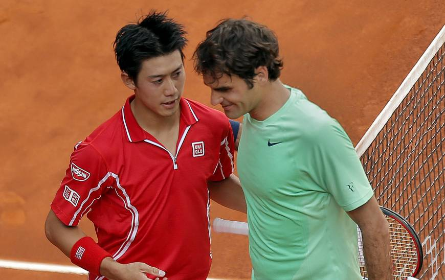 Nishikori upsets Federer to reach Madrid quarterfinals