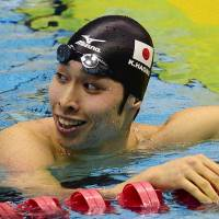 Crack in the armor: Kosuke Hagino won one of the four contests he entered at the Japan Open last weekend in Sagamihara, Kanagawa Prefecture. | KYODO