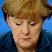 In defense: German Chancellor Angela Merkel has said the dumping inquiry shouldn't lead to permanent duties against China. | AFP-JIJI