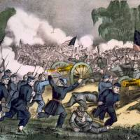 Harvest of death: The battle of Gettysburg on July 3, 1863, is shown in a lithograph published by Currier and Ives. | THE WASHINGTON POST