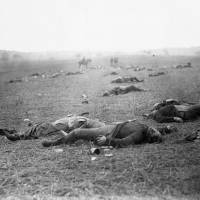 A photo by Timothy O'Sullivan, known as 'Harvest of Death,' shows the federal dead on the first day of battle. | THE WASHINGTON POST