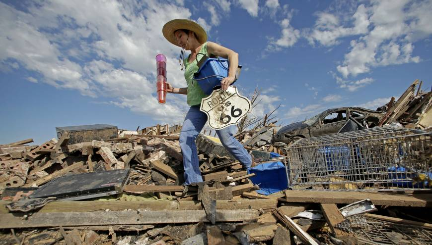 Most buildings in 'Tornado Alley' lack shelters