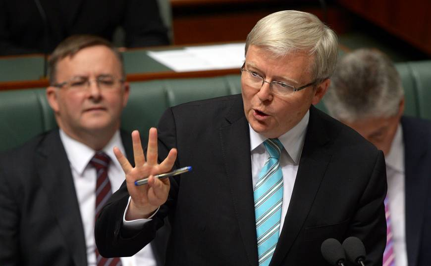 Abbott would raise risk of 'conflict' with Indonesia, new Australian PM Rudd warns