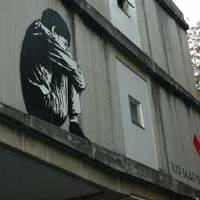 Jef Aerosol's painting on the outside walls of the French Embassy welcome visitors to 'No Man's Land'   ROLAND BIJLENGA PHOTO