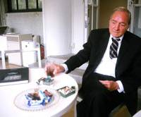 Good old days: William Eggleston at the Hara Museum of Contemporary Art chats about his New York experiences.   DONALD EUBANK PHOTO
