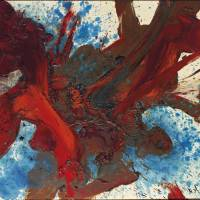 Body of work: Kazuo Shiraga's 'Chiretsusei Katsusemba' (1961), which sold for a record €1,665,500 (¥215,965,000) at auction on June 4. | © CHRISTIE'S IMAGES LIMITED 2013